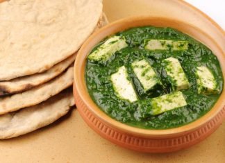 diabetic recipe palak paneer